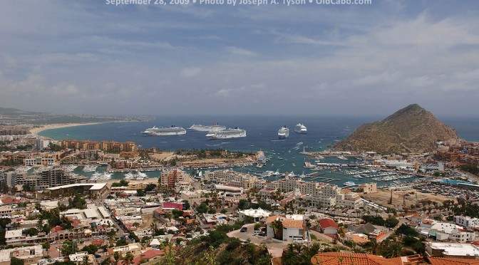 Cabo San Lucas Bay Then and Now