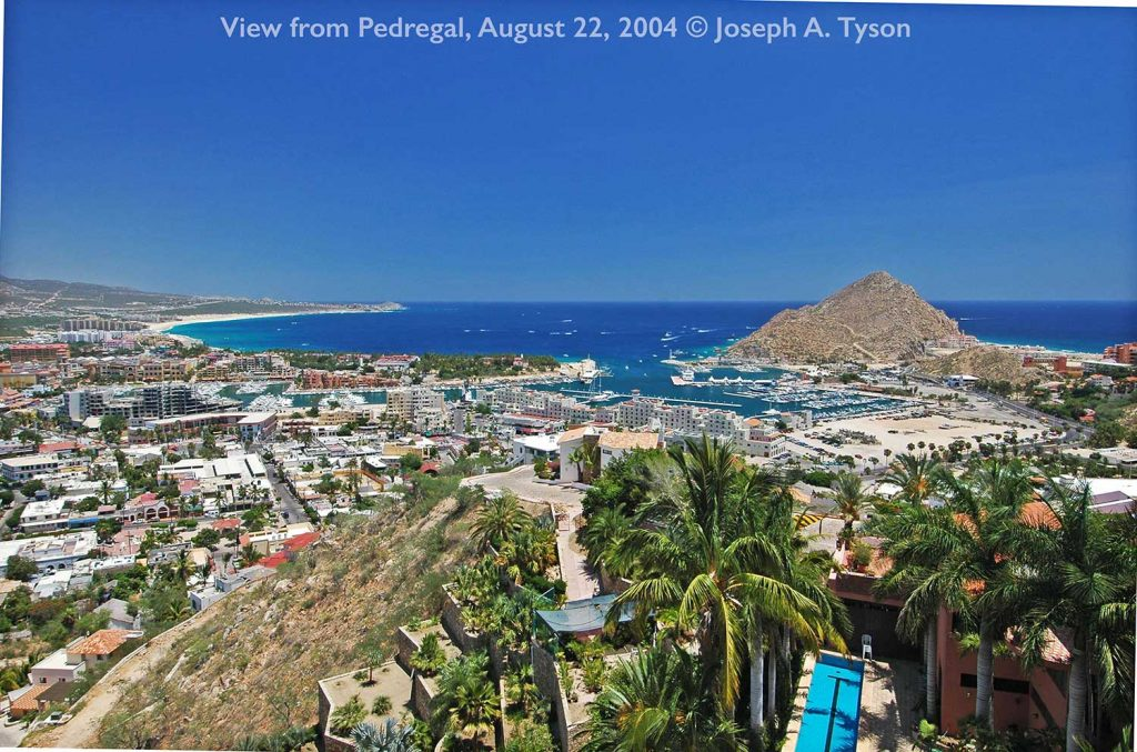 VIew of Cabo San Lucas Harbor, from Pedregal, 22 August 2004.