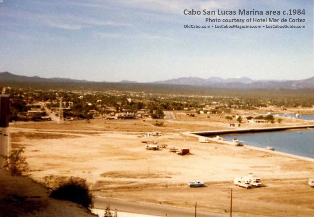 Cabo San Lucas Marina area 1984 The dock for the boats to load/unload was a wooden floating dock approx 10' X 10' with a short, narrow wooden ramp. No airport in San Jose del Cabo. We flew in to La Paz and then taxi or air/taxi to Cabo.