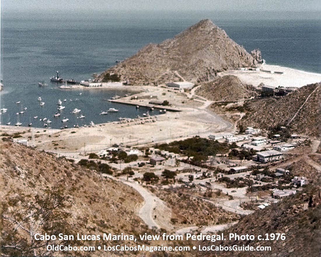 View of the Cabo San Lucas Marina from Pedregal. Photo c. 1976