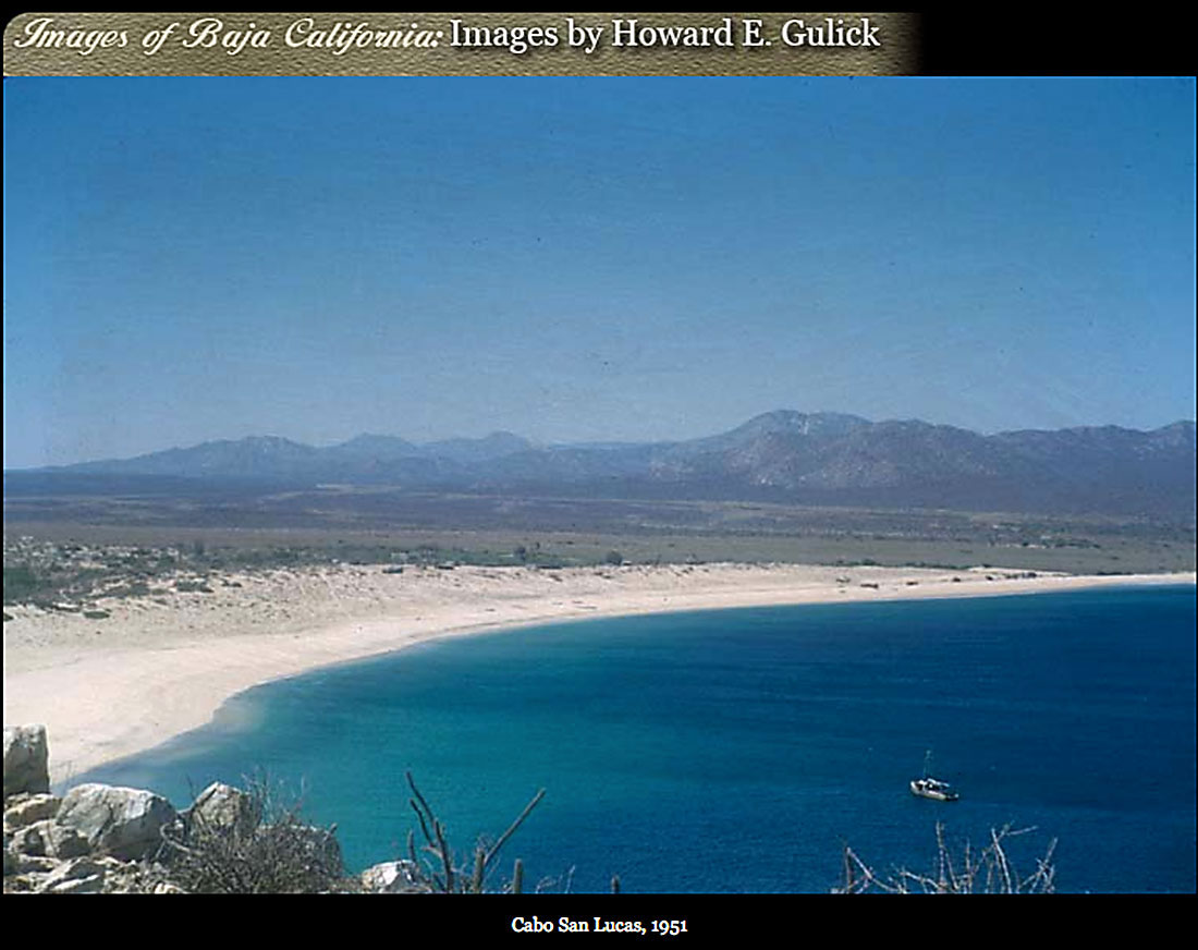 Cabo San Lucas Bay and shoreline in 1951. Photo Gulick
