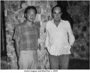 Carlos Ungson and Bud Parr - estimated photo date: 1965-75
