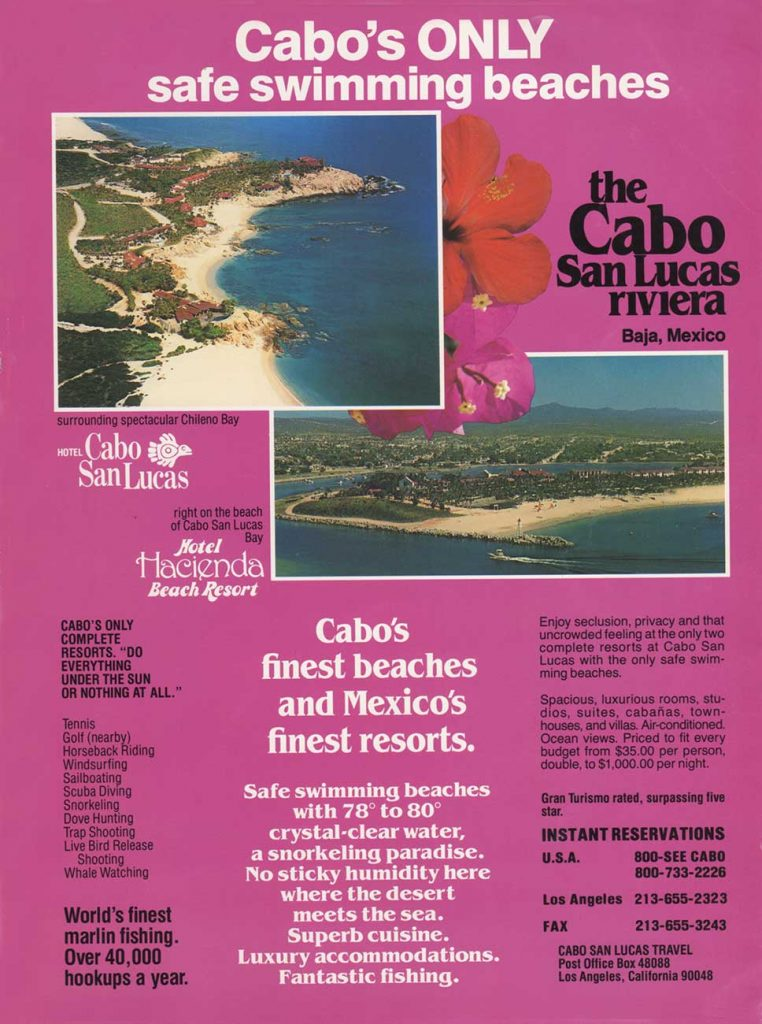 Hacienda Beach Resort advertisement in the 1991 IGFA World Record Magazine.