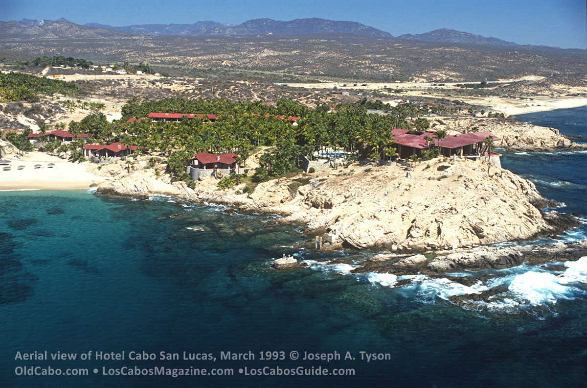 Aerial view of Hotel Cabo San Lucas, March 1993.  Photo by Joseph A. Tyson