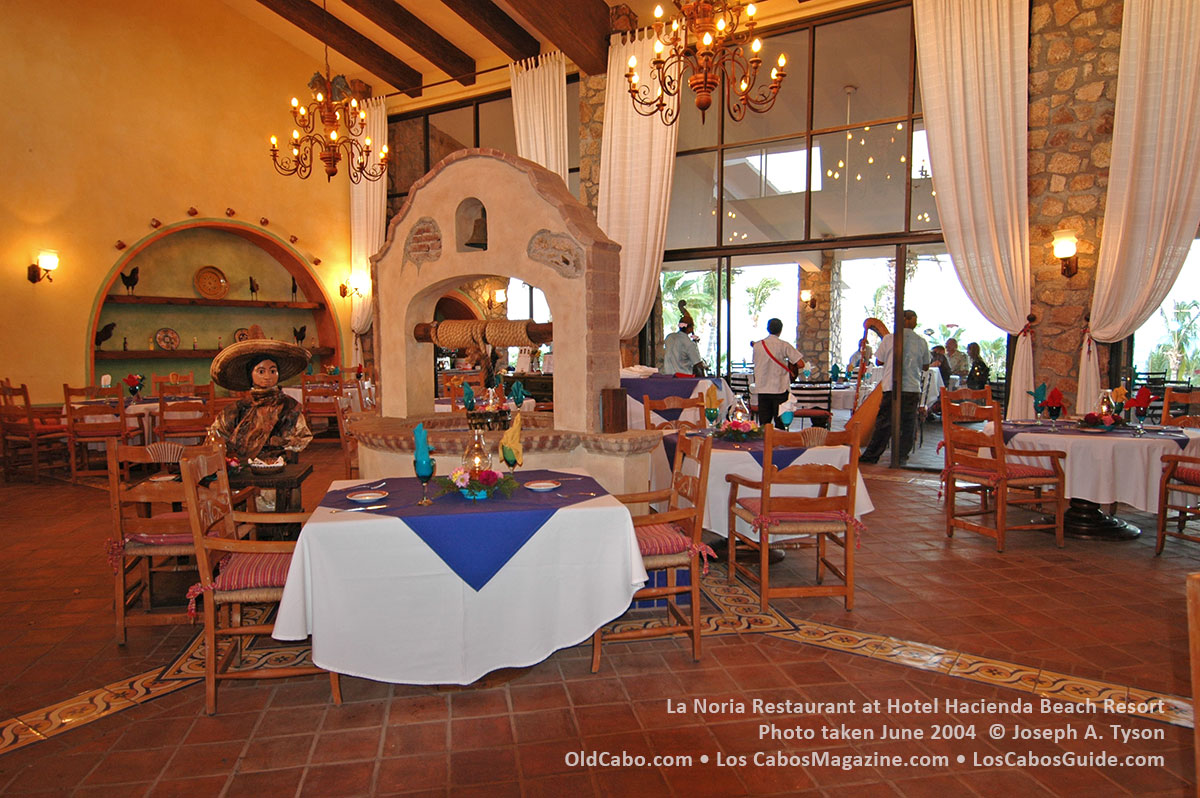 La Noria Restaurant at Hotel Hacienda Beach Resort. Photo taken June  2004 by Joseph A. Tyson.