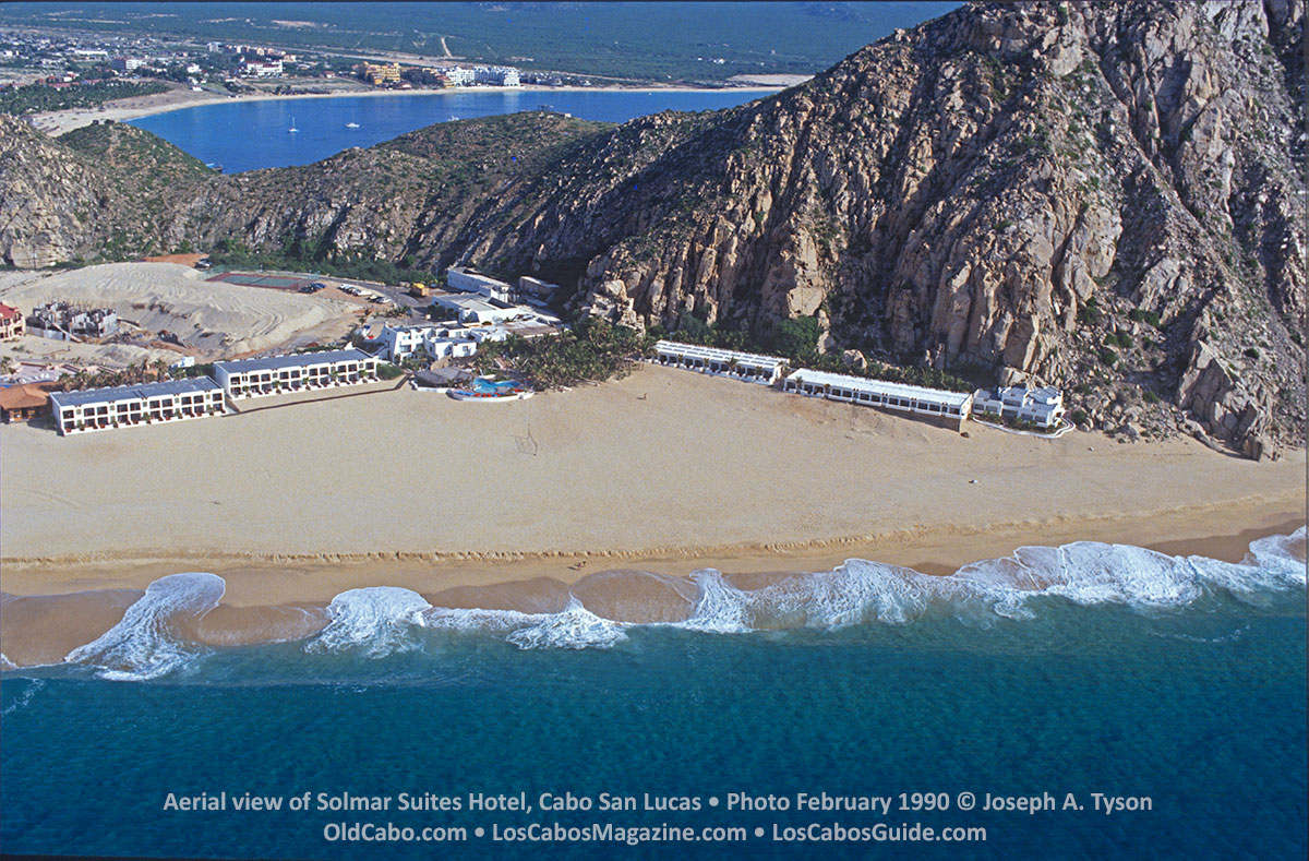 Aerial view of Solmar Suites Hotel, Cabo San Lucas • Photo February 1990 © Joseph A. Tyson