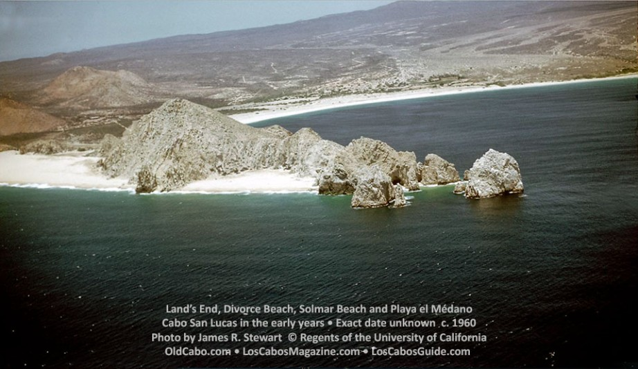 Land's End, Divorce Beach, Solmar Beach and Playa el Médano, Cabo San Lucas in the early years • Exact date unknown c. 1960