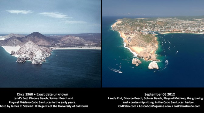 Aerial View Land's End Then and Now
