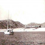 View of Hotel Hacienda Beach Resort from Cabo San Lucas Bay in 1966. Source: Three friends of Bette Sutherin.