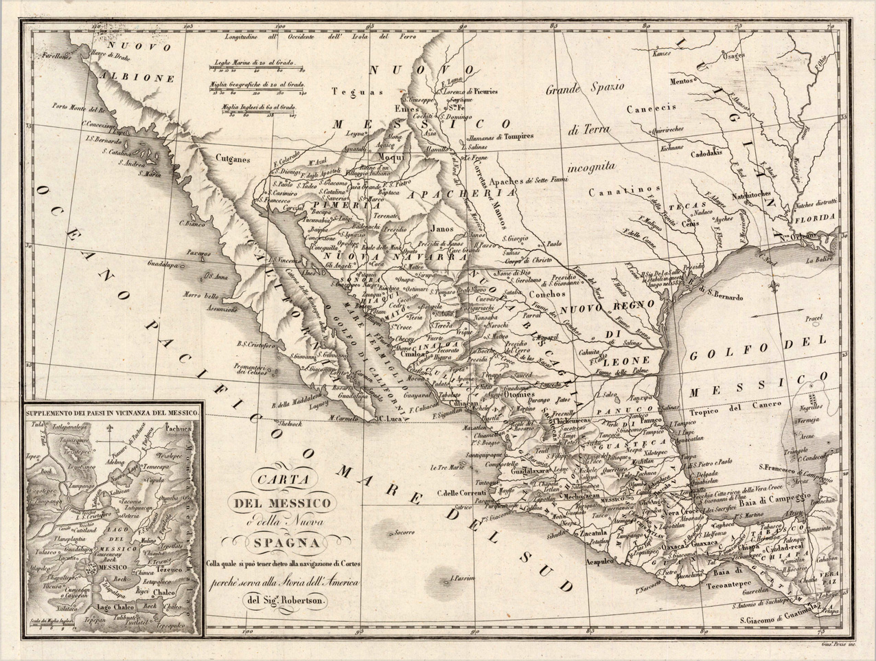 Island of California Map Old Cabo