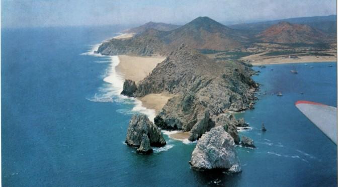 Aerial photo of Cabo San Lucas by Francisco Aramburo - circa 1965