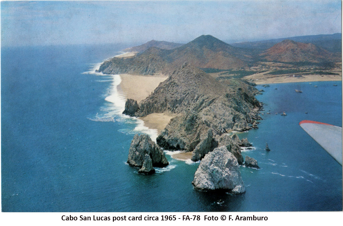 Aerial photo of Cabo San Lucas by Francisco Aramburo - circa 1965