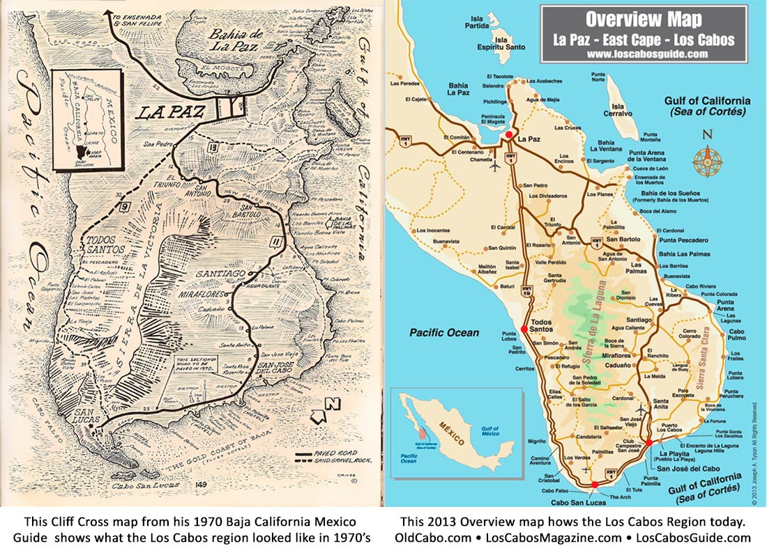 los cabos area then and now