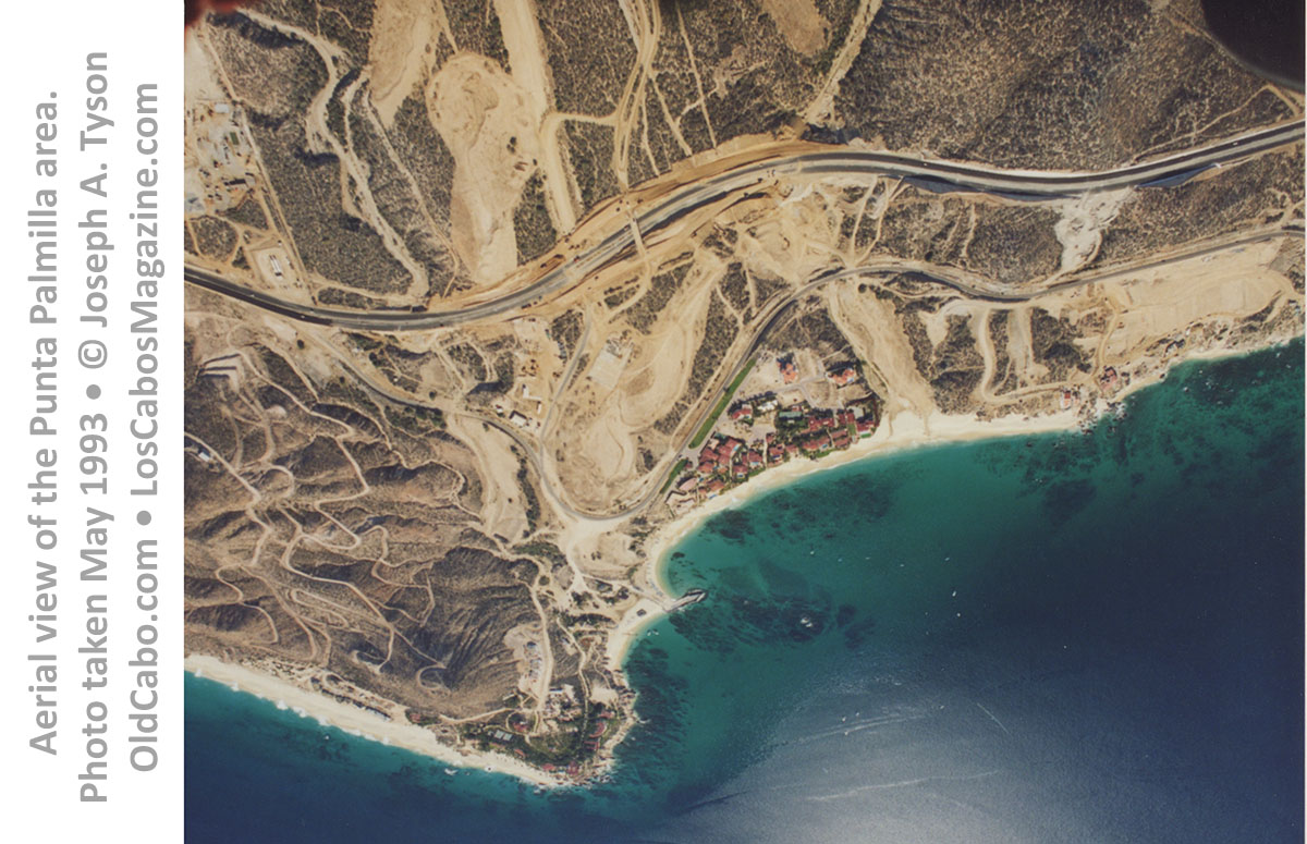 Aerial view of the Punta Palmilla area. Photo taken May 1993 • © Joseph A. Tyson  OldCabo.com • LosCabosMagazine.com