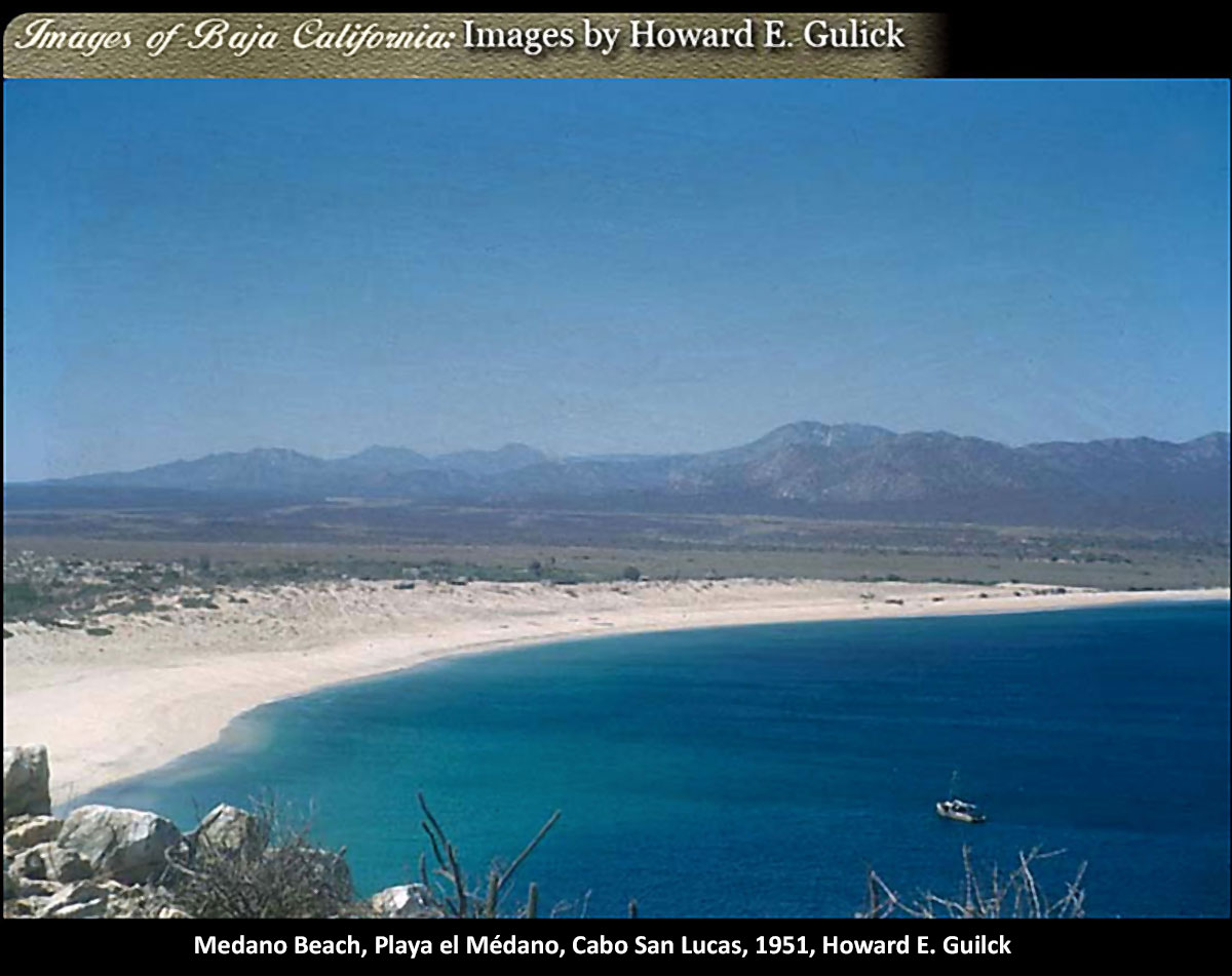 Medano Beach, Playa el Médano, Cabo San Lucas, 1951. Photo by Howard E. Gulick