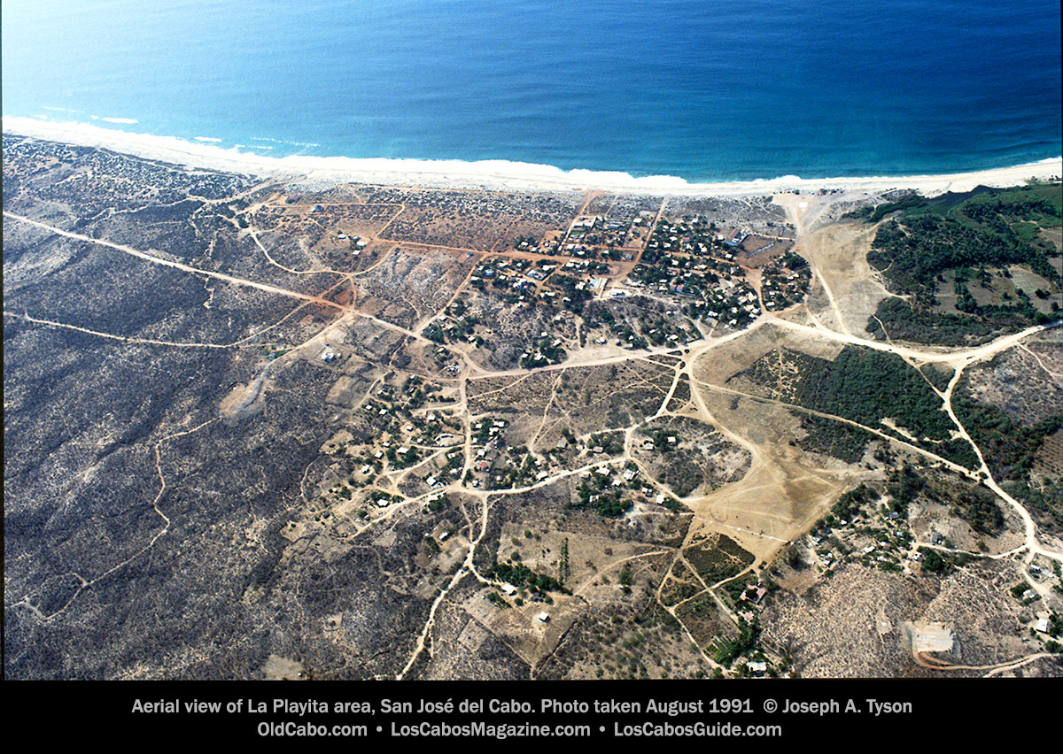Aerial view of La Playita area, San José del Cabo. Photo taken August 1991 © Joseph A. Tyson
