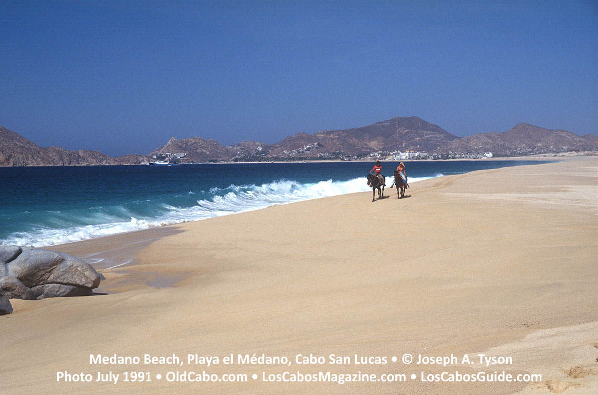 Medano Beach, Playa el Médano, Cabo San Lucas • © Joseph A. Tyson Photo July 1991.