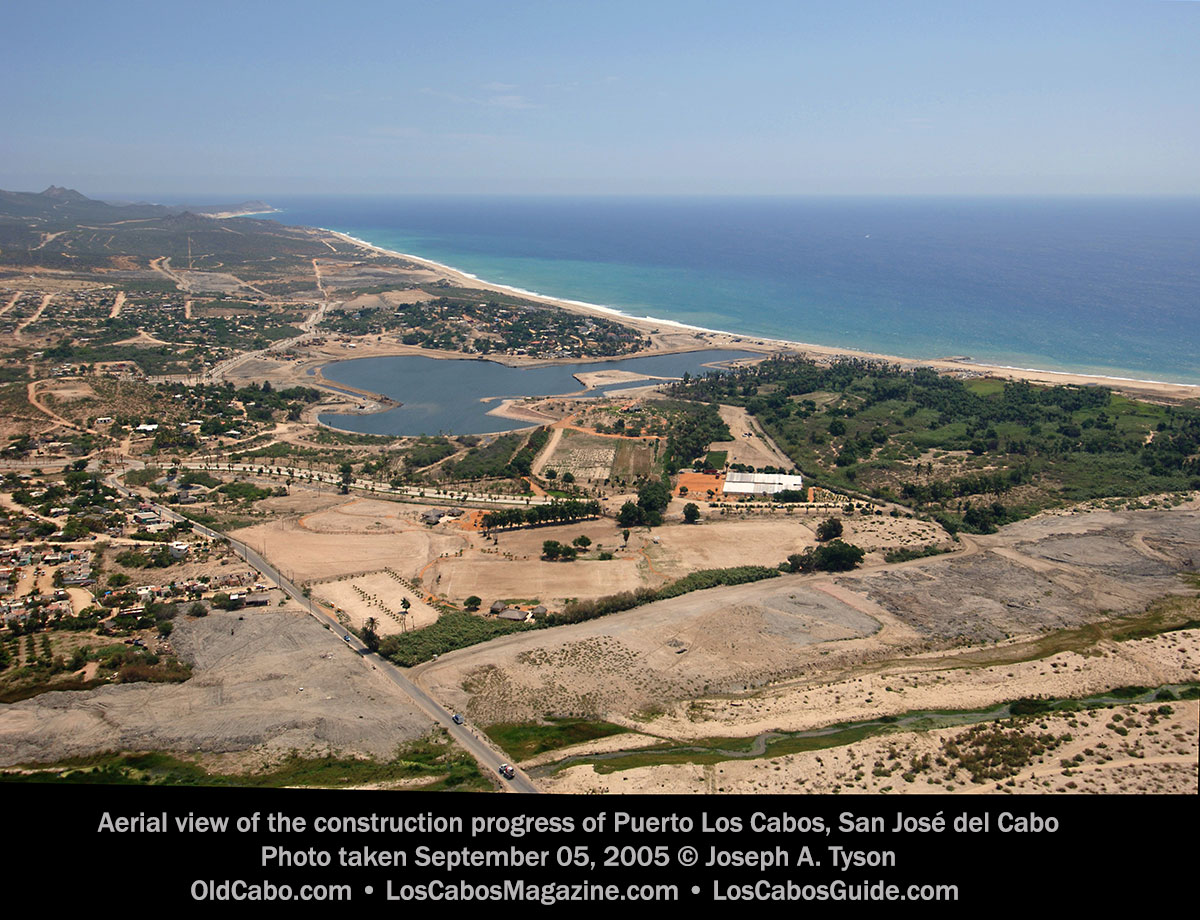 Aerial view of the construction progress of Puerto Los Cabos, San José del Cabo Photo taken September 05, 2005 © Joseph A. Tyson.