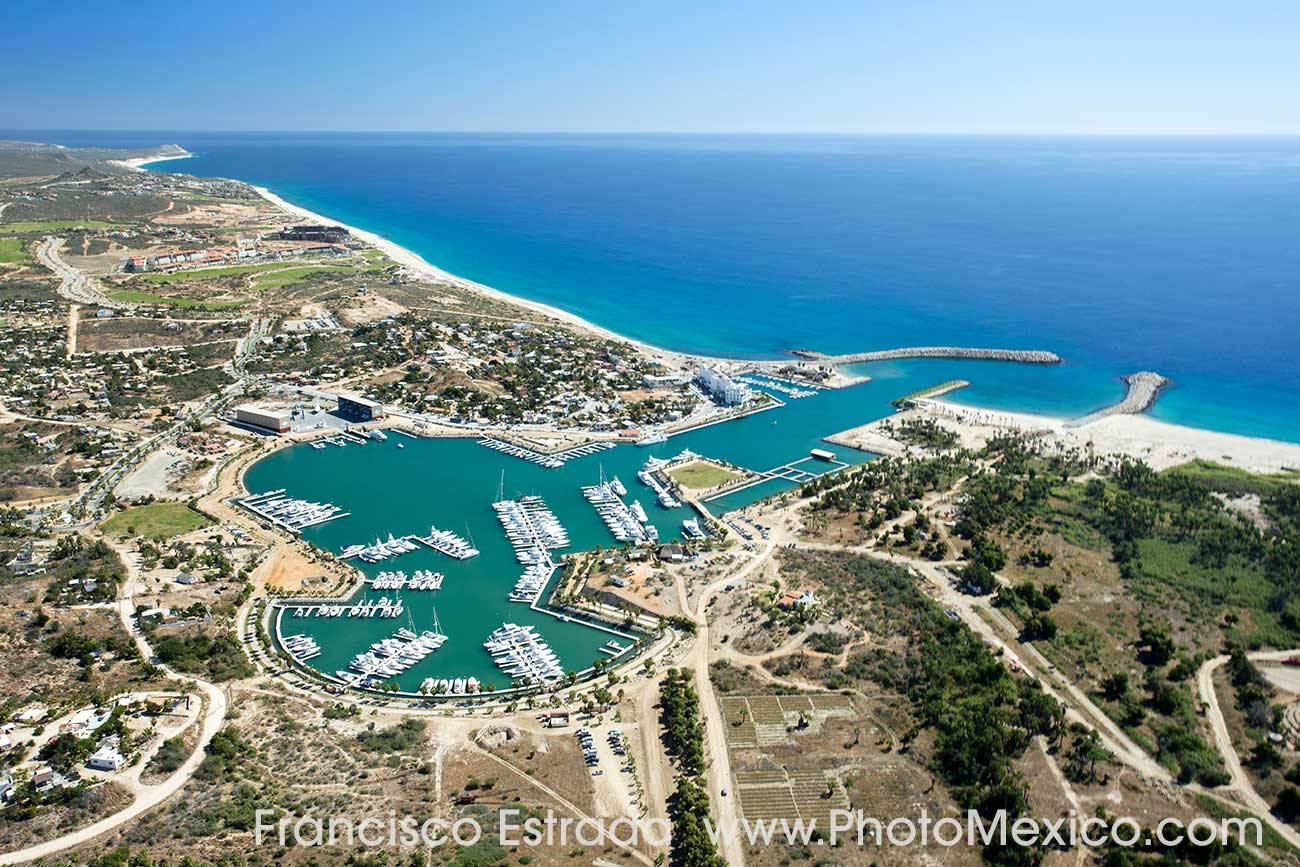 Aerial view of Puerto Los Cabos, by Francisco Estrada, taken January 2016