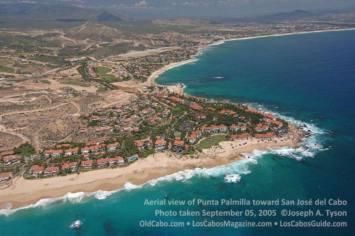 Aerial view of Punta Palmilla toward San José del Cabo Photo taken September 05, 2005  ©Joseph A. Tyson OldCabo.com • LosCabosMagazine.com • LosCabosGuide.com