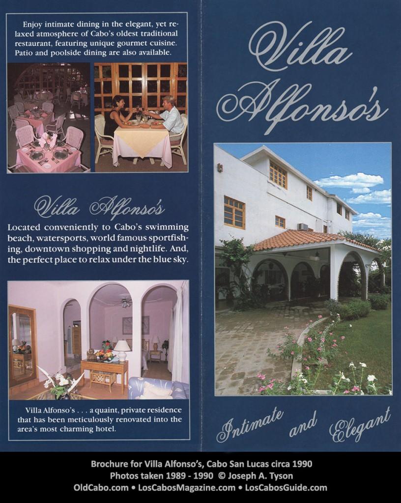 Brochure for Villa Alfonso's, Cabo San Lucas circa 1990Photos taken 1989 - 1990 © Joseph A. Tyson.