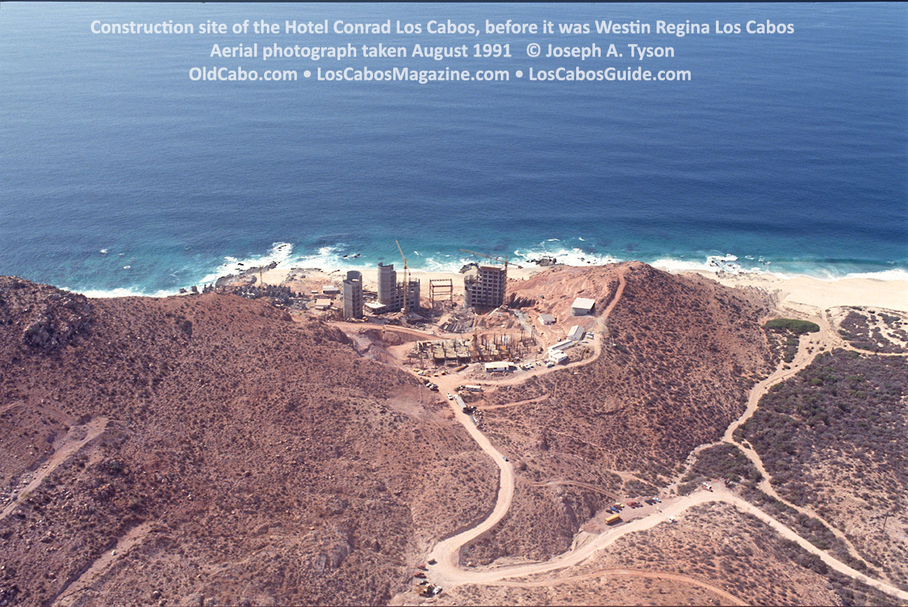 Construction site of the Hotel Conrad Los Cabos, before it was Westin Regina Los CabosAerial photograph taken August 1991 © Joseph A. Tyson