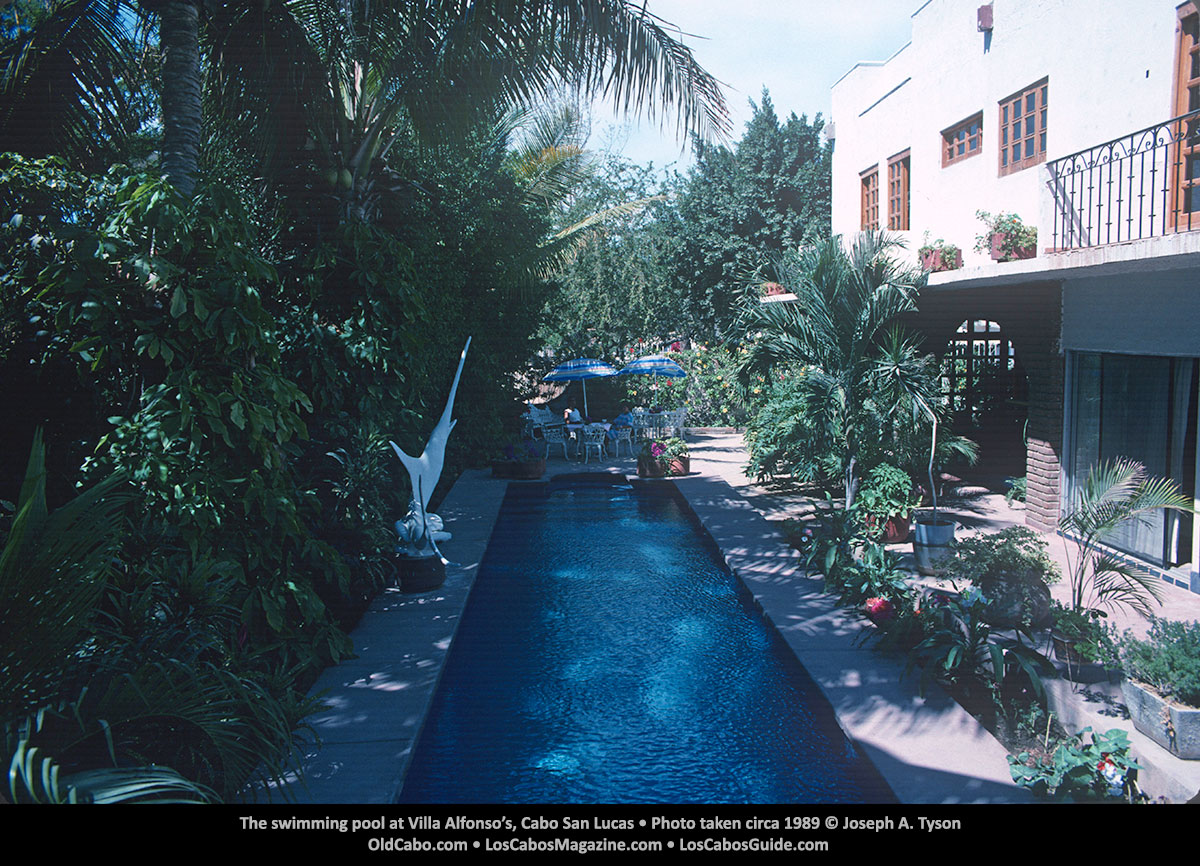 The swimming pool at Villa Alfonso's, Cabo San Lucas • Photo taken circa 1989 © Joseph A. Tyson