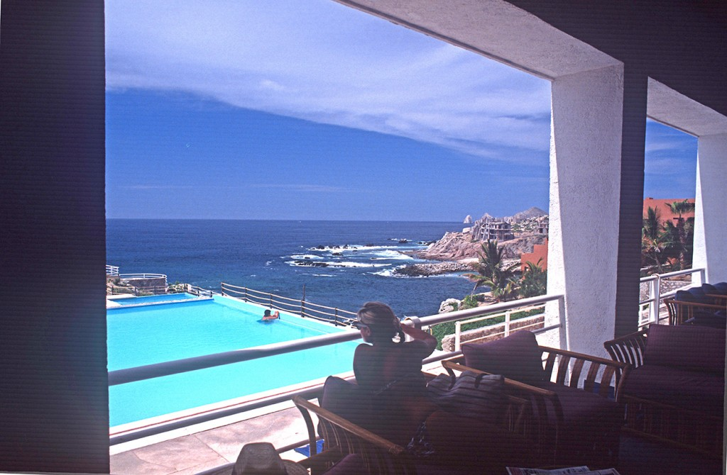 View of pool Sea of Cortés at Clarion Hotel, Cabo San Lucas, August 1989 - Photo Joseph A. Tyson