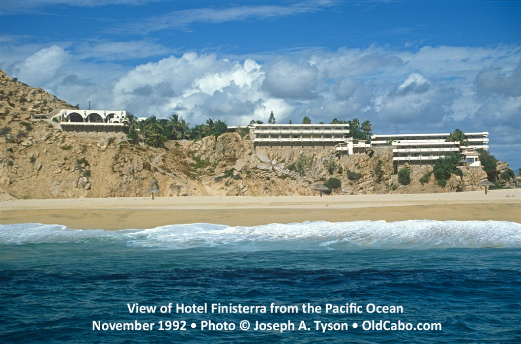 View of Hotel Finisterra, Cabo San Lucas, from the Pacific Ocean. Photo November 1999 © Joseph A. Tyson.