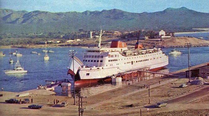 Cabo Harbor with Ferry 1975