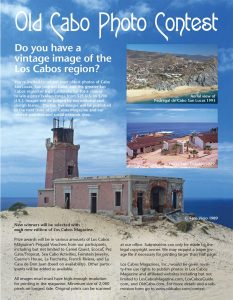 Old Cabo Photo Contest with Los Cabos Magazine.