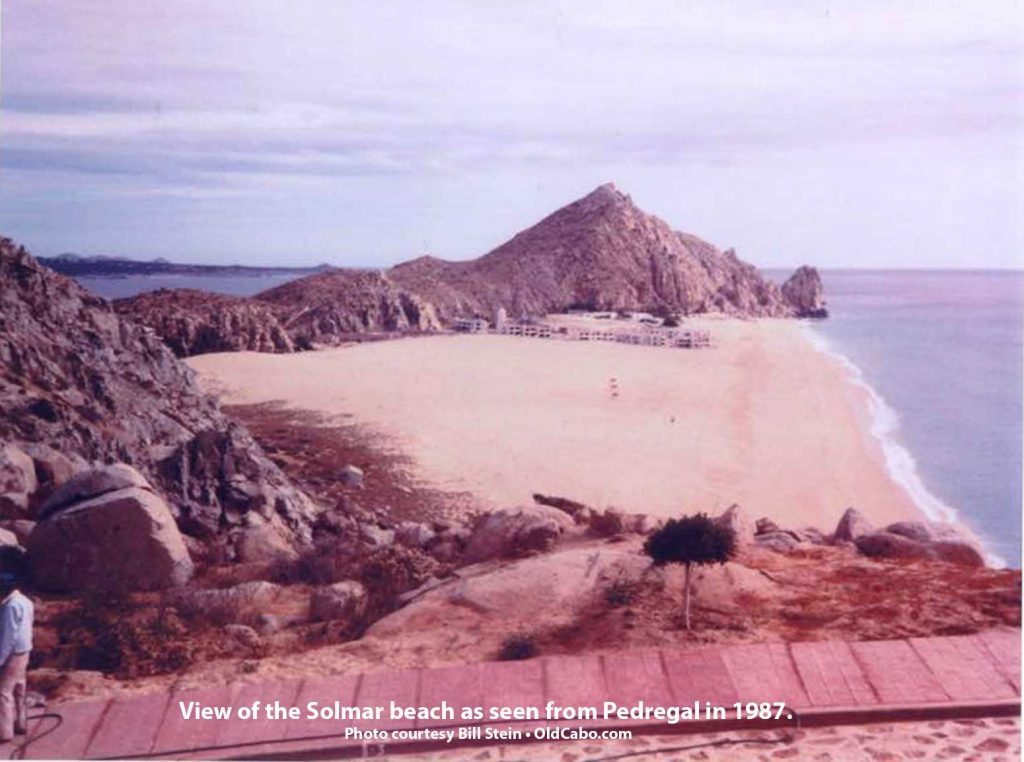 Solmar Beach view from-Pedregal in 1987. Photo: Stein.