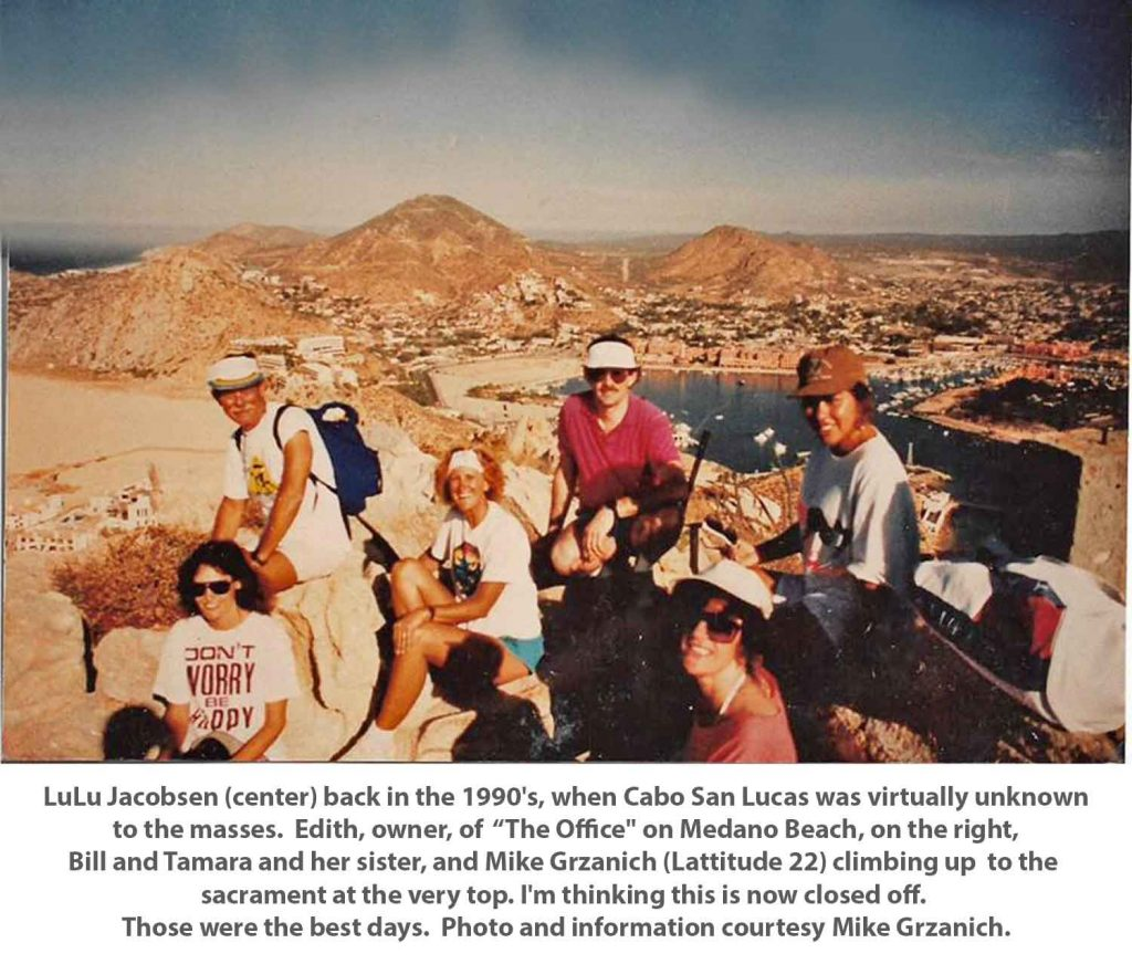 View Cabo San Lucas from the top of Solmar Mountain 1990's