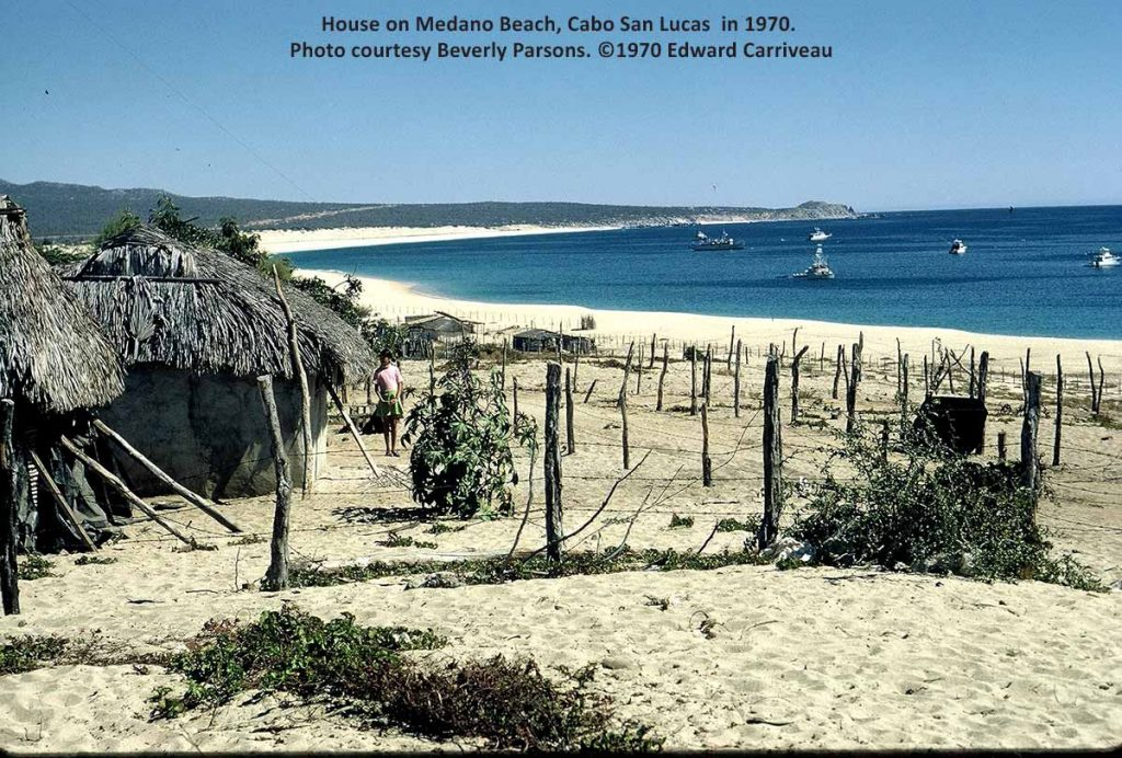 House on Medano Beach Cabo San Lucas. Photo ©1970 by Edward Carriveau