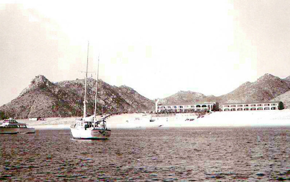 View Hacienda Hotel From Bay 1966 Of Cabo San Lucas